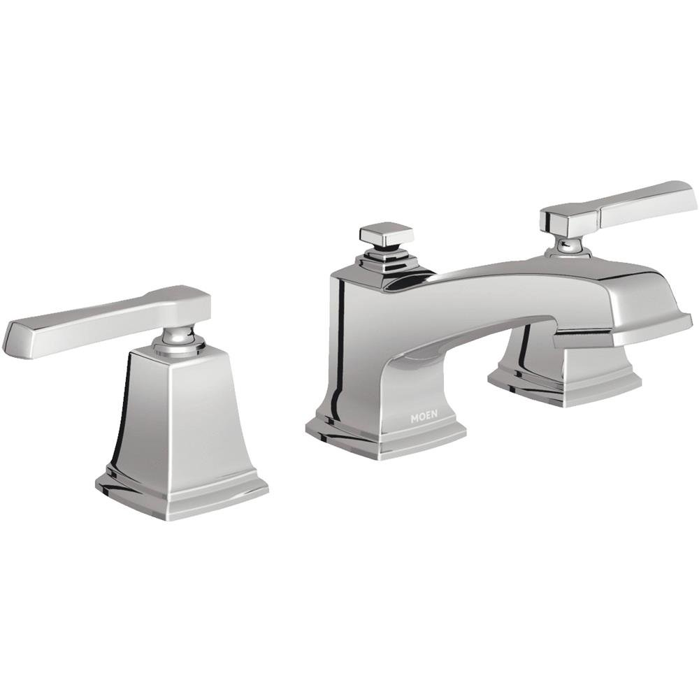 Moen WS84820 Two-Handle Low Arc Bathroom Faucet, Chrome - - Amazon.com