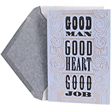 Hallmark Mahogany Graduation Greeting Card for Him (Good Man, Good Heart, Good Job)