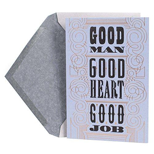 Hallmark Mahogany Graduation Card for Him (Good Man, Good Heart, Good Job)