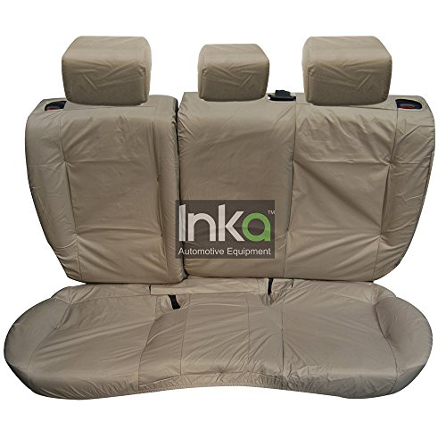 Inka Corp. Range Rover Evoque 5 Door Tailored Waterproof Rear Seat Covers without Centre Armrest 2011-2016 Heavy Duty Right & Left Hand Drive Beige - INK-WSC-3592: