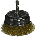 Vermont American 16783 3-Inch Coarse Wire Cup Brush with 1/4-Inch Hex Shank for Drill
