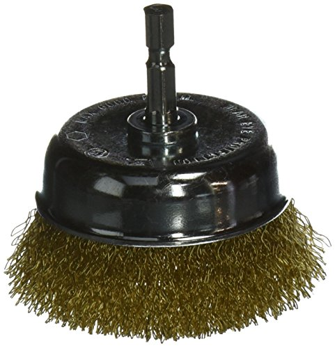 Vermont American 16783 3-Inch Coarse Wire Cup Brush with 1/4-Inch Hex Shank for Drill (Brass Brush Cup)