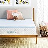 Linenspa 2 Inch Gel Infused Memory Foam Mattress Topper - Queen Size (Renewed)
