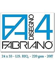 Fabriano F4 05201597, Album da Disegno, Formato 24 x 33 cm, Fogli Lisci Riquadrati, Grammatura 220gr/m2, 20 Fogli