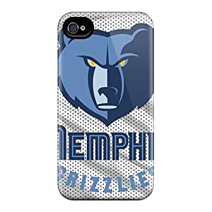 Premium Iphone 4/4s Cases - Protective Skin - High Quality For Memphis Grizzlies