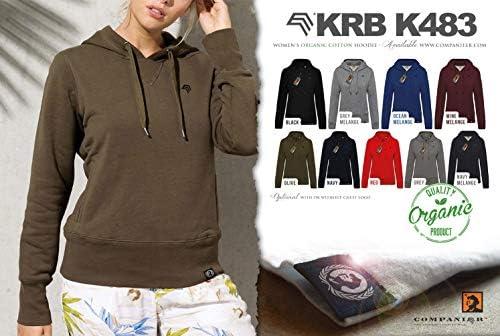 COMPANIEER KRB K483 Bio-Baumwolle Kapuzenpullover Hoodie Rot Damen Women's Größe XS