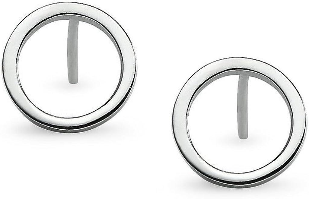 Silverline Jewelry 925 Sterling Silver Round Circle Open Geometric Shape Dainty Stud Earrings | Minimalist Delicate Jewelry