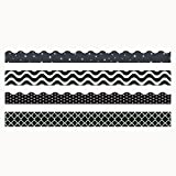 Trend Enterprises Black & White Terrific Trimmer & Bolder Border Variety Pack (T-90827)