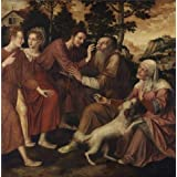 Oil painting 'Jan Massijs - The Healing of Tobit, c. 1550' printing on high quality polyster Canvas , 24x24 inch / 61x62 cm ,the best Kids Room gallery art and Home decoration and Gifts is this Amazing Art Decorative Prints on Canvas