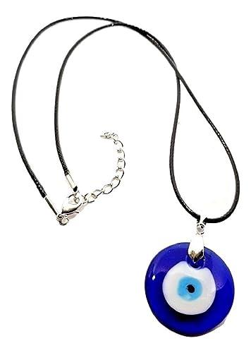 Eclectic Shop Uk Mauvais Oeil Nazar Pendentif Protection Collier avec Corde  Verre Kabbale juif Turquie e90ff2fecc14