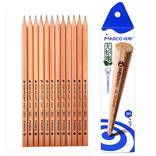 Eco plus 6001 Series Hexagonal Children's Sketch Pencil writing (2H) (6001 Series)
