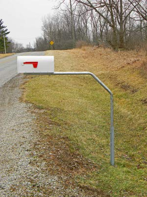 (RTC SwingAway Mailbox Support, 48-inch arm, Galvanized Steel Mailbox Post Swings Away When Impacted)