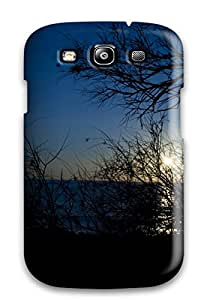 Galaxy S3 Hard Back With Bumper Silicone Gel Tpu Case Cover Ocean Sunset In Blue Photo Earth Nature Sunset
