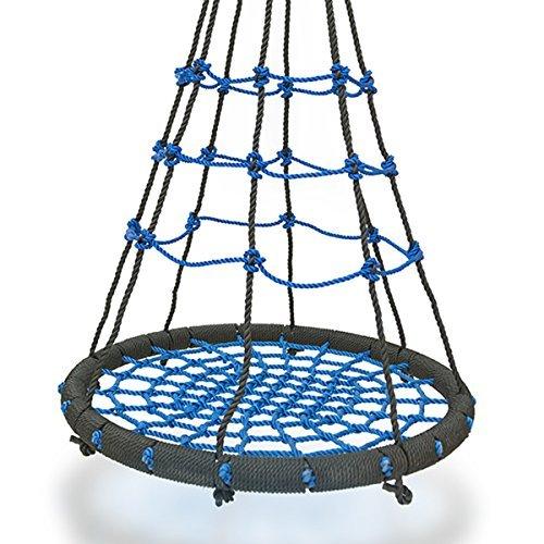 DXP XL Nestschaukel 90 cm Schaukel Kinderschaukel Rundschaukel Tellerschaukel Schaukelsitz bis ca. 200KG EDY08 Blau