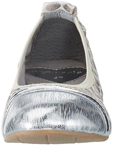 Silver Women's 948 Flats Comb 22111 Silver Ballet Tamaris wIqUUd