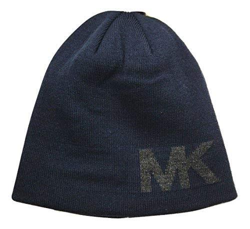- Michael Kors MK Reversible Knit Beanie, Navy, One Size