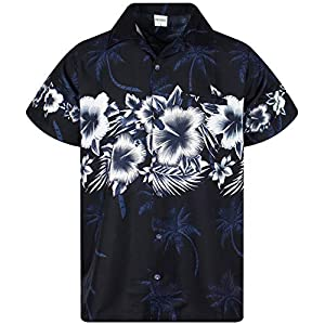 King Kameha Funky Chemise Hawaïenne | Hommes | XS – 6XL | Manche-Courte | Poche-Avant | Hawaiian-Imprimer | Fleurs…