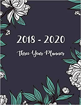 2018 - 2020 Three Year Planner: Monthly Schedule Organizer