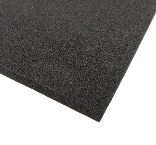 BLACK NEOPRENE PLAIN SPONGE/FOAM RUBBER SHEET 1M X 1M X 6MM THICK Camthorne