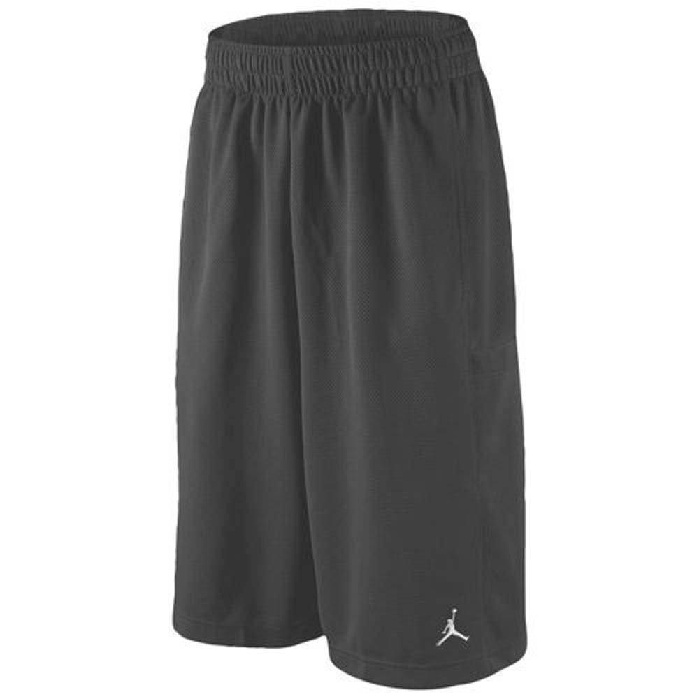 Nike Boys Air Jordan Mesh Athletic Shorts (Large, Dark Grey)