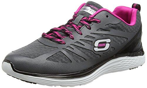 SKECHERS Damen Valeris - Flying High Gray Rosa Sneaker 9.5 B (M)