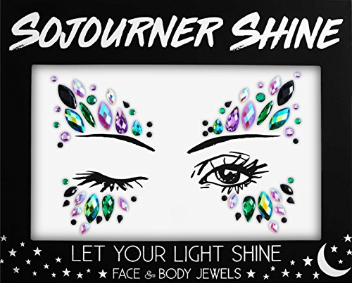 Face Jewels Glitter Gems Rhinestones - Eye Body Jewels Gems | Rhinestone Stickers | Body Glitter Festival Rave & Party Accessories by SoJourner (Girl Power)]()