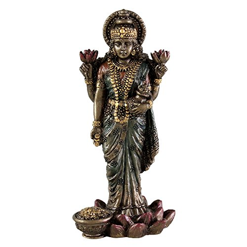 3'' Lakshmi Laxmi Hindu Goddess of Good Fortune and Wealth - Symbol of Beauty, Love and Grace by King Tut's Secret