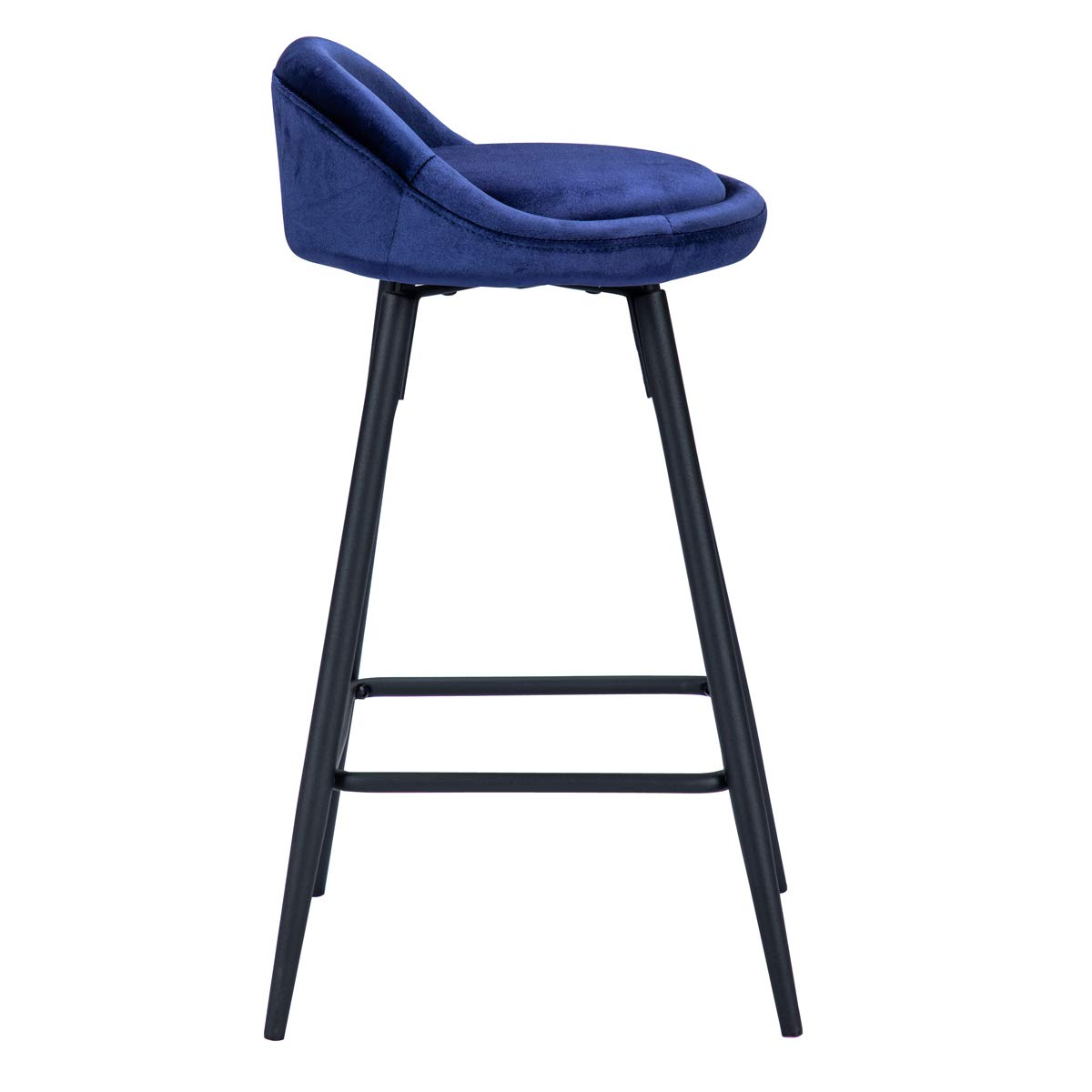 Andeworld Set of 2 Swivel Upholstered Counter Height Bar Stools Industrial Metal Bar Stools 10 Blue, Swivel 26 Inch