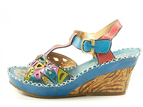 Laura Vita LMD1645-25 Balade 25 Sandalias fashion de cuero mujer Türkis