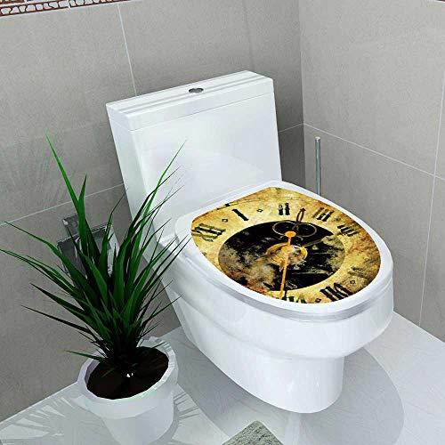 Decal Wall Art Decor Clocks Bathroom Creative Toilet Cover Stickers W6 x - Clock Munich