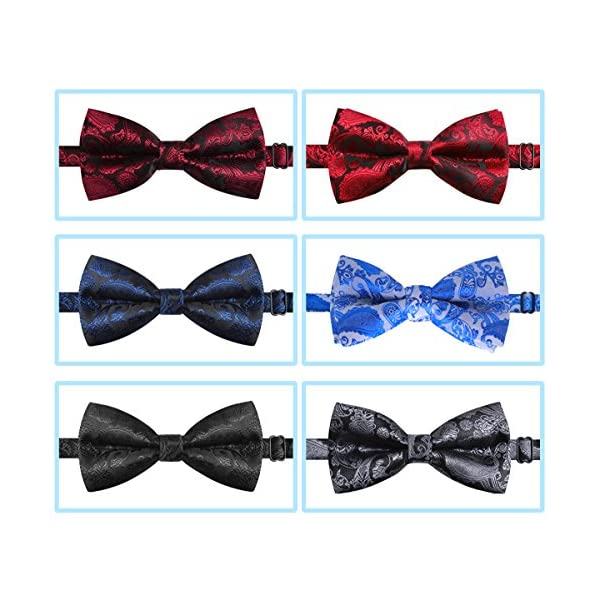 """YOY Handcrafted Adorable Pet Bow Ties - 6-Pack Adjustable Neck 11""""-20"""" Paisley Bowties Dog Collar Neckties Kitty Puppy Grooming Accessories for Doggy Cat, 6 Colors 2"""