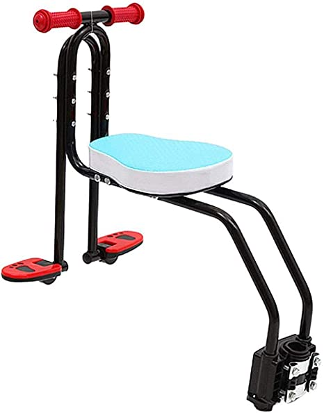 SHKY Asiento de Seguridad para niños de Bicicleta de Metal, Asiento de desmontaje rápido Portabebés Asiento Delantero para Bicicleta con protección para niños con reposabrazos y Pedal,Azul: Amazon.es: Deportes y aire libre