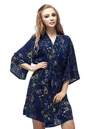 Skyfitting Women s Cotton Short Kimono Robe c896f423d