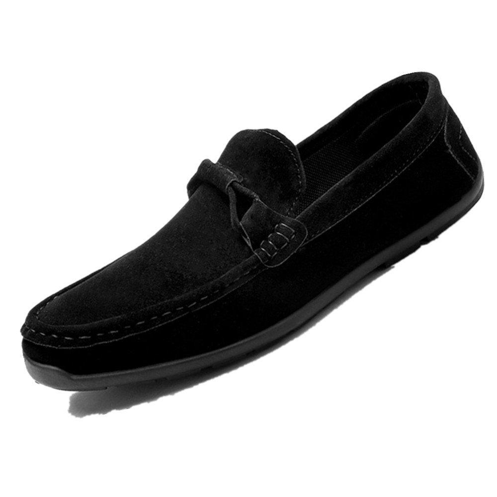 LIEBE721 Mode Lauml;ssig Schuhe Raster Slip auf Mauml;nner Beliebte Freizeitschuhe  42 EU|Schwarz