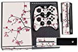 Designer Skin Sticker for the Xbox One Console With Two Wireless Controller Decals Cherry Blossoms Review
