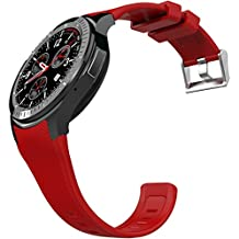 Generic DOMINO DM368 Smart Watch Phone, 512MB + 8GB, 1.39 inch AMOLED Display Capacitive Touch Screen MTK6580 Quad Core 1.3Ghz Bluetooth 4.0 Smart Watch Phone GSM WCDMA WiFi / GPS / BT Anti-lost(Red)