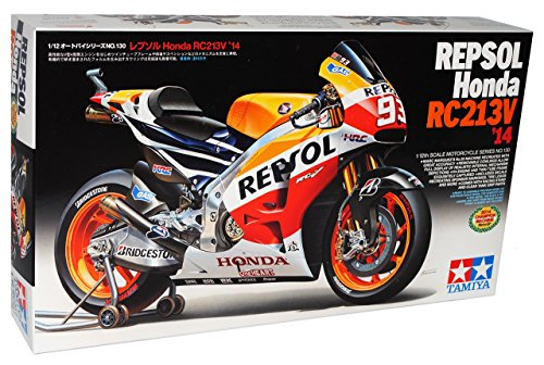 Honda RC213V 2014 Weltmeister Marc Marquez Nr 93 Repsol 14130 Kit Bausatz 1/12 Tamiya Modell Motorrad mit individiuellem Wunschkennzeichen