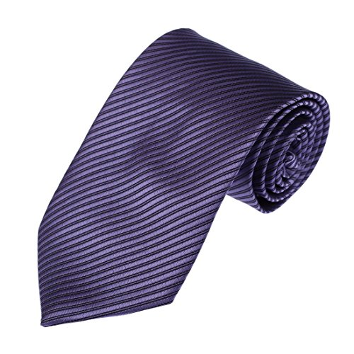 Dan Smith DAA3A01N Dark Slateblue Stripes Woven Microfiber Necktie For Working Day Discount Gift - Ties Discount Neckties
