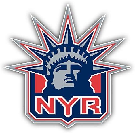hotprint Rangers Hockey New York Head Logo Car Bumper Sticker Decal 5 X 5