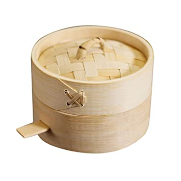 Reis Fisch Mehrzweck Bambusdämpfer Dampfkorb Bambus Dampfgarer für Gemüse