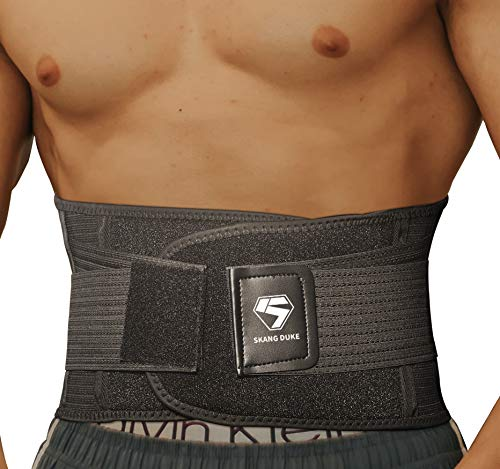 SKDK Lumbar Support Back Brace -Relief for Back Pain,Herniated Disc,Breathable Mesh Design,Spine Steel Plate Support,Adjustable Support Straps,Lower Back Belt (Medium)