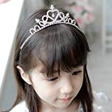 SymWell(TM) New Glitter Rhinestone Princess Crown Tiara Headband Hair band for Child kid Girl