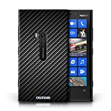 KOBALT® Protective Hard Back Phone Case / Cover for Nokia Lumia 920 | Grey Design | Carbon Fibre Effect/Pattern Collection