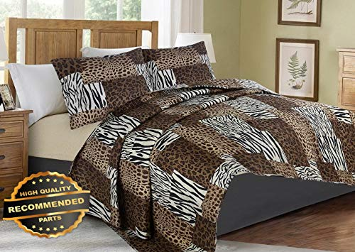 Werrox #5 Animal Zebra Leopard Pattern Quilt Set Bed Cover Bedding Quilted Bedspread Twin Size | Quilt Style QLTR-291267279