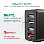 JOOMFEEN-Quick-Charger-30-Caricatore-USB-da-Muro30W6A-QC-30-Carica-Rapida-4-Porte-Caricabatterie-USB-Multiplo-da-Parete-con-Cavo-USB-per-iPhone-XSXS-MaxXRX88-Plus76s6s-Plus65siPadiPod