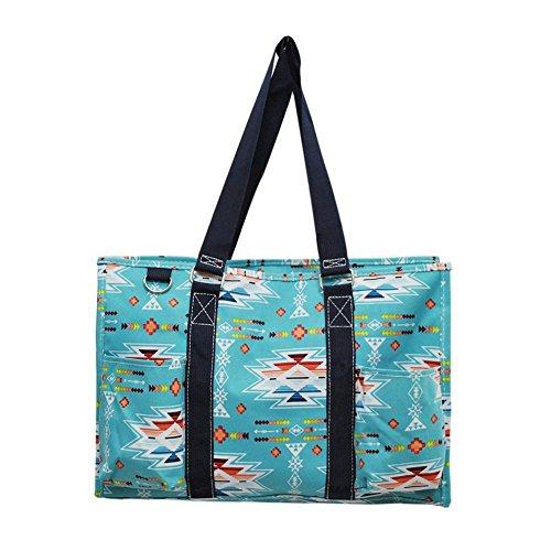 NGIL All Purpose Organizer Medium Utility Tote Bag 2018 Spring Collection (Southern Aztec Serape Navy)