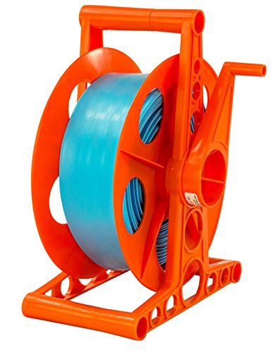 LASS ENTERPRISES Swimming Pool Backwash Discharge Hose Reel - Includes 100 ft Hose