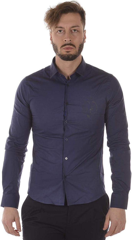 Versace Jeans - Camisa Hombre B1GRA6E0 Camisa Azul EXTRASLIM ...