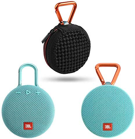 TXEsign Lycra Zipper Mesh Carrying Case Bag Compatible with JBL Clip 2 Cilp 3 Bluetooth Wireless Speaker Black