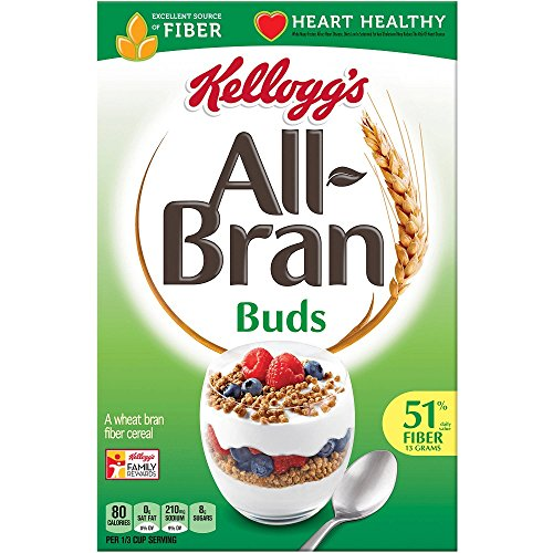 Kellogg's Bran Buds Cereal, 17.7 oz (Pack of 4) (Cereal Fiber Soluble)